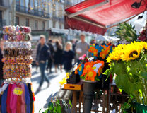 Barcelona Ramblas street life in autumn Stock Image