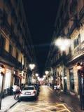 Barcelona Real. Night, spain, catalonia, barcelona, travel, city, europe, landmark, architecture, evening, street, cityscape, mediterranean, view, urban, dusk Royalty Free Stock Photos