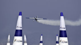 Barcelona red bull air race. Training of the red bull air race On October barcelona Stock Photography