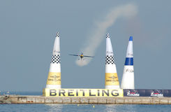 Barcelona red bull air race. Training of the red bull air race On October barcelona Royalty Free Stock Images