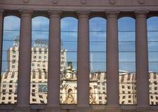 Barcelona Reflection, Placa d`Espanya Royalty Free Stock Images