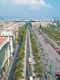Barcelona, Ronda del Litoral. Barcelona, sky view of Ronda del Litoral Stock Photos