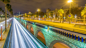 Barcelona ronda litoral. Ronda litoral and paseig de colom in Barcelona Royalty Free Stock Image