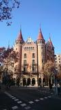 Barcelona rozdroże i wieżyczka budynek Obrazy Royalty Free
