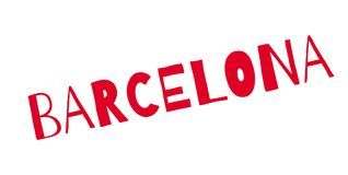 Barcelona rubber stamp. Grunge design with dust scratches. Effects can be easily removed for a clean, crisp look. Color is easily changed Stock Image