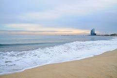 Barcelona's beach. Daylight view of Barcelona's beach Royalty Free Stock Image