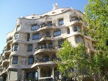 Barcelona's casa mila Stock Photos