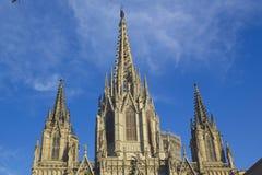 Barcelona& x27; s-domkyrka royaltyfria bilder