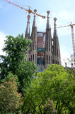 Barcelona's famous cathedral La Sagrada Familia Royalty Free Stock Photos
