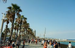 Barcelona's famous seafront Stock Image