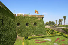 Barcelona's fortress Castell de Montjuic Royalty Free Stock Images