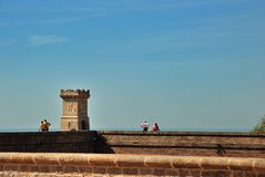 Barcelona's fortress Castell de Montjuic Stock Images