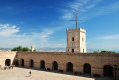 Barcelona's fortress Castell de Montjuic Royalty Free Stock Photos