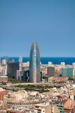 Barcelona's landscape. Landscape of Barcelona, facing Agbar Tower royalty free stock photo