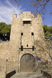 Barcelona's medieval walls. Royalty Free Stock Photo