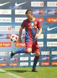 Barcelona's new signing David Villa Stock Photos