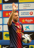 Barcelona's new signing Jordi Alba Royalty Free Stock Photos
