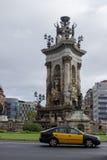 Barcelona's Plaça Espanya. Sculpture in the center of Barcelona's Plaza Espanya Stock Images