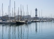 Barcelona`s port. Stock Image