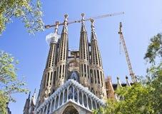 Barcelona`s Sagrada Familia. While traveling to Barcelona I visited the Sagrada Familia and it was amazing royalty free stock image