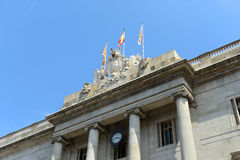 Barcelona's Town Hall, Barcelona, Spain Stock Images