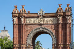Barcelona's Triumphal Arch. View the Triumphal Arch in Barcelona, Spain Royalty Free Stock Photo