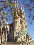 Barcelona Sagrada Familia. View on Gaudi Sagrada Familia, Barcelona Royalty Free Stock Photography