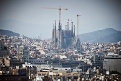 Barcelona Sagrada Familia Arkivfoto