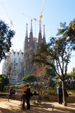 barcelona Sagrada familia Obrazy Royalty Free