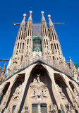 Barcelona Sagrada Familia cathedral by Gaudi Royalty Free Stock Image