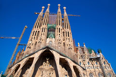 Barcelona Sagrada Familia cathedral by Gaudi stock image