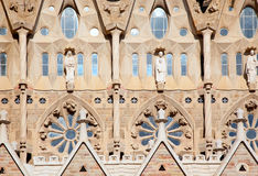 Barcelona Sagrada Familia cathedral by Gaudi. Architect facade details stock photography