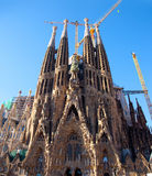 Barcelona Sagrada Familia cathedral by Gaudi Stock Photo