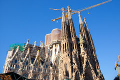 Barcelona Sagrada Familia cathedral by Gaudi stock images