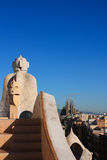 Barcelona. Sagrada Familia from La Pedrera Stock Photography