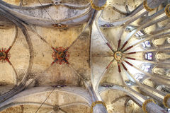 Barcelona, Santa Maria del Mar ceiling vault Royalty Free Stock Images