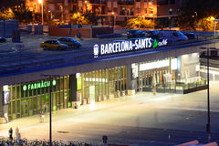 Barcelona Sants railway station, Spain Royalty Free Stock Image