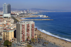 Barcelona sea front. View of Barcelona sea front Stock Image