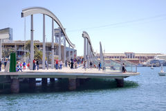 Barcelona. Sea Rambla Stock Photography