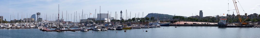 Barcelona seaport Royalty Free Stock Images