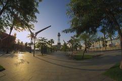 Barcelona  seaport Stock Photography