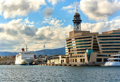Barcelona seaport. Spain Royalty Free Stock Images