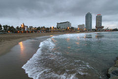 barcelona seashore Royaltyfria Bilder