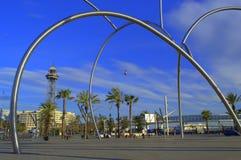 Barcelona seaside square Stock Photography