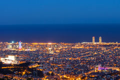 Barcelona seen from Mount Tibidabo Stock Image