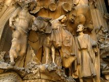 Barcelona, Segrada Familia 02. The famous La Sagrada Familia in Barcelona, Spain Stock Photos