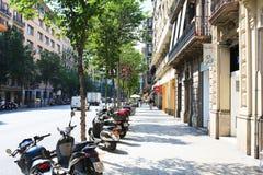 Gata av Barcelona royaltyfri bild