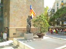 Barcelona, 11 septembre 2017: Maart voor de onafhankelijkheid van Catalonië Royalty-vrije Stock Afbeelding