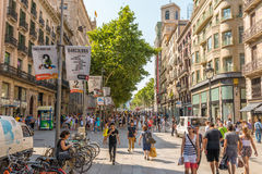 Barcelona, shopping in the pedestrian zone Stock Image