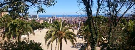 barcelona sikt Fotografering för Bildbyråer